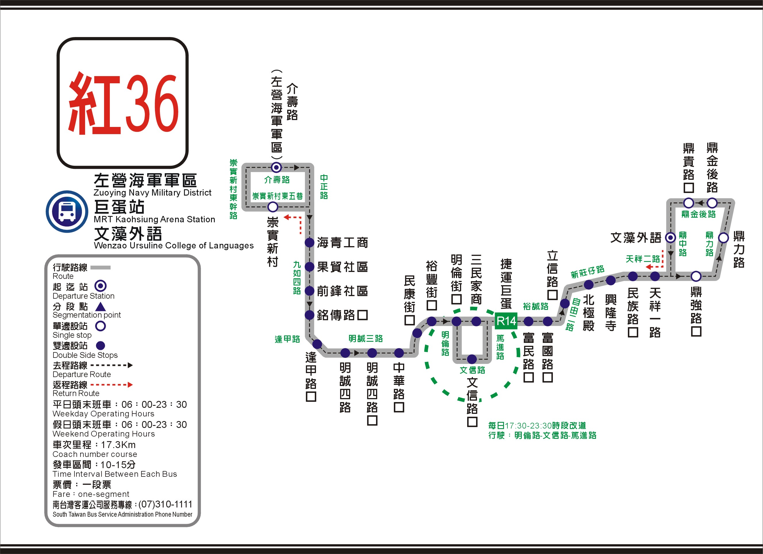 R36 Route Map